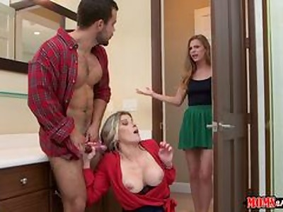 Step Mom Cory was all about sharing cock for Thanksgiving dessert.