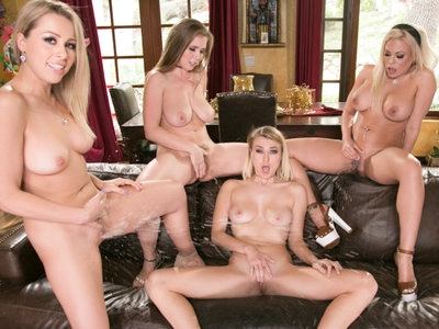Natalia Starr learns to squirt with 3 gorgeous babes