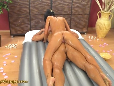 slippery nuru massage with Gina Devine