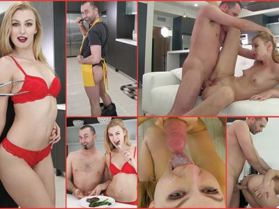 CUM KITCHEN: James Deen Fucks blonde babe Alexa Grace