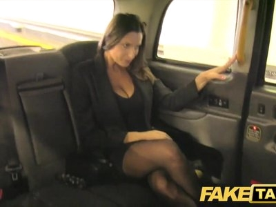 Fake Taxi hot busty babe gets massive cum shot over her tits