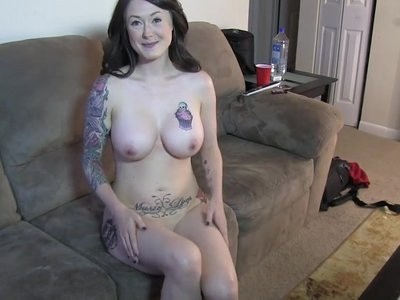 Gorgeous Tatted Milf Auditions for Porn for BBC