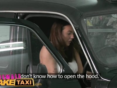 Female Fake Taxi Sexy minx gets down and dirty with stud