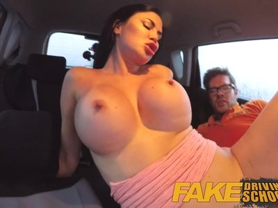 Fake Driving School double creampie for milf