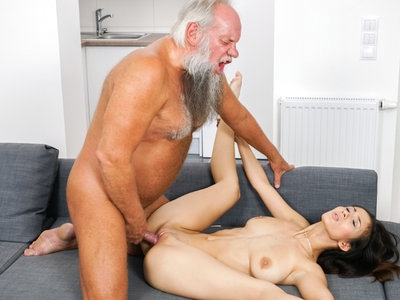 Lovely brunette Darcia Lee gets fucked by old cock Albert