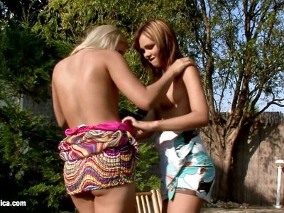 Sensual lesbian scene by Sapphix with Nikitta and Rikki