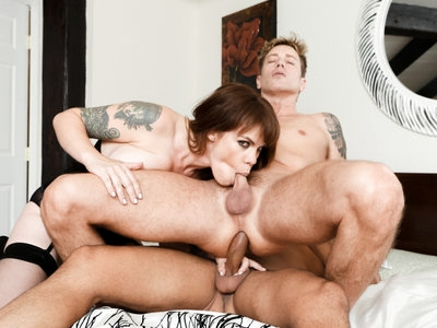 Gia Paloma, Gabriel and Damien engage in a bisexual 3some
