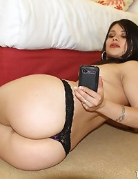 :: Shes New.com presents Sadine G's Sexy Photos in Big booty on the glass ::