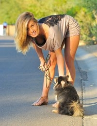 FTV Girls Kennedy Walking The Dog - FTVGirls.com