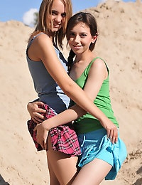 Two alluring teens
