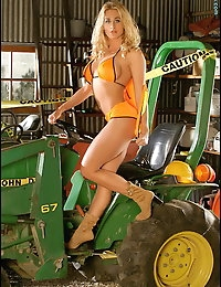Sexy Tractor Girl