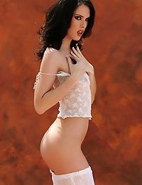 Amber is a fair skinned brunette with a lovely thin body - Digital Desire