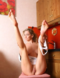 Beautiful blonde Ginny is arousing and very sexy