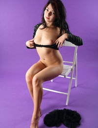 Young beauty Selma takes off her naughty panties