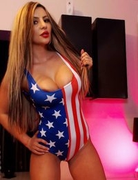 Jessy Jo looks sexy as an American flag