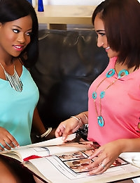 Lola James and Monique Symone experience hot ebony girl on girl love for the first time together.