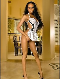 Black Pussy in French Maid Costume