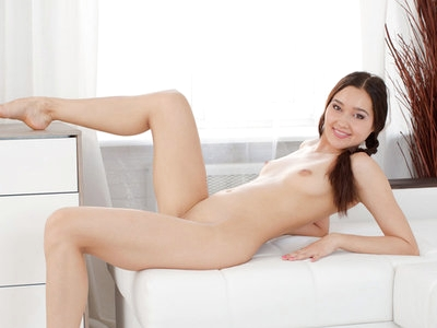 Pretty Russian first timer gets naked and naughty