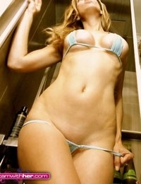 Alexandra Steele getting naughty in the shower