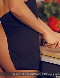 Alexa is waking up with sweet morning memories of her sexy and satisfying night with Joel. It was so good, she gets wet just thinking about it. She remembers every detail... when he got there, what they were drinking, how she teased him by wearing only her apron as she prepared the food they were supposed to eat. How he played with her sweet, wet pussy before fucking her hard on the kitchen counter. How she loved the excitement of being taken by him so forcibly then riding him on the kitchen floor and how she... well, we won't spoil it for you. Let's just say it was a night to remember and she remembers it fondly... by fondllng herself. :) Come on in and see for yourself just how memorable a night it was. Enjoy!