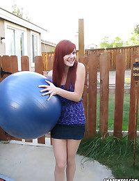 Cute skinny redhead girlfriend loves to tease with her tight perfect body