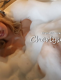 Charlyse Angel takes a bubbly candle-lit bath