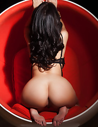 March Pet of the Month Ava Dalush shows off her sexiness in a round chair.