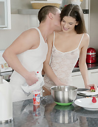 "Kaylee and Jake have been friends for years, but this is the first time EVER that their admiration for one another combines with their built up sexual tension to produce some of the hottest ""friend sex"" you'll EVER see! They're literally laughing and playful one second then fucking on the countertop the next. Have you ever imagined a scenario like this in your sexual fantasies? Maybe these two can show you exactly what best friends with benefits really looks like :-) And maybe, just maybe it will lead to more.... I am happy for them! xoxo Colette"