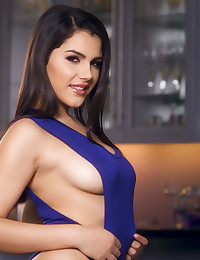 Voluptuous Valentina Nappi touches her body before fingering her pussy