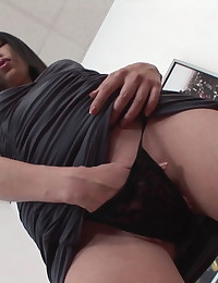 Dildo fucking Asian chick Mey is joined by a pair of guys and she gives her body over to them for the relentless pleasure of a rough threesome. They fill her body with big cocks, aggressively pounding her asshole, pussy, and mouth as she groans and begs for more. The double penetration is deep and stretches her more than anything else.