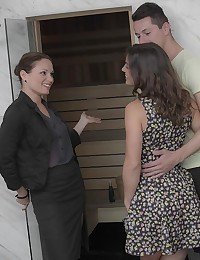 Julia Roca and her man aren't shy when it comes to expressing their burning lust for each other. When their realtor left them alone to examine a property, Julia and Nick fell immediately into each other's arms. Julia sucked Nick's cock eagerly, putting her expert oral skills to use firing him up to fuck. When Silvia came back, she stopped in the doorway and feasted her eyes on Nick and Julia getting hot and heavy on the sofa. She dove into the mix, joining the lusty couple on the sofa for a dick-swapping threesome that left everyone spent.