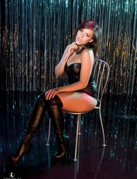 Charlie Rose Black leather night club strip | Spinchix