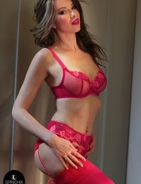 Nicky's Red lingerie romance | Spinchix