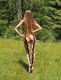 Eroberlin Emilia Sky long hair teen in swiss alps photo #8