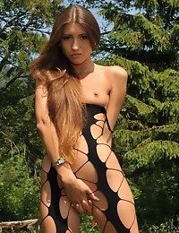 Eroberlin Emilia Sky long hair teen in swiss alps photo #10