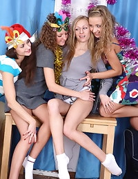 Holiday teen foursome photo #3