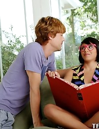 :: ExxxtraSmall.com featuring Liv Aguilera in Lil Nerdy Teen Gets Boned :: photo #5