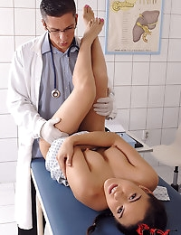 Latina Teen Gets Doctorandapos;s Cock photo #9