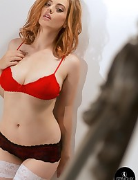 Lottii Rose Red Bra | Spinchix photo #1