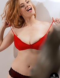 Lottii Rose Red Bra | Spinchix photo #6