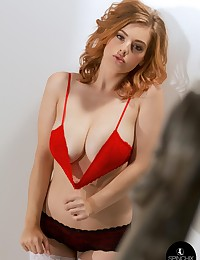 Lottii Rose Red Bra | Spinchix photo #7