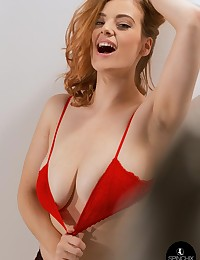 Lottii Rose Red Bra | Spinchix photo #8