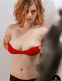 Lottii Rose Red Bra | Spinchix photo #9