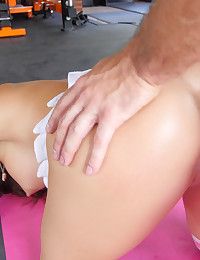 Naughty Tennis instructor teaches petite brunette Lily Adams photo #15