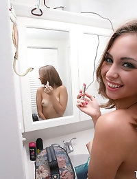:: Shesnew.com presents Riley Reed's Sexy Pictures in Bathroom Fun :: photo #9