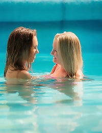 SWIMMING POOL with Kayla Lyon, Jenny Appach - SexArt photo #1