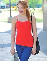 FTV Girls Anita Flashing On Campus - FTVGirls.com photo #1