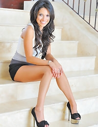 FTV Girls Jazmine Skirt On The Stairs - FTVGirls.com photo #2