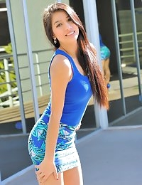 FTV Girls Megan gorgeous in blue - FTVGirls.com photo #1