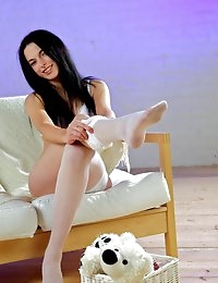 Fedorov-hd-Mariam-blackhaired-hottie-sexy-white-stockings  photo #1